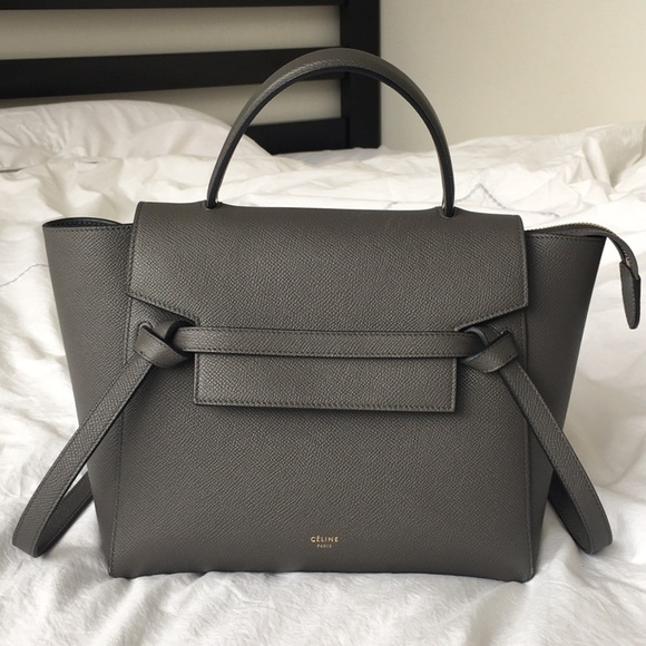 1ea8ea6522 Celine Handbags - Celine Grey Micro Belt Bag